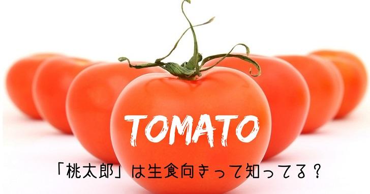 トマト品種「桃太郎」は生食向き!ピンク系と赤系があるのを知ってる?