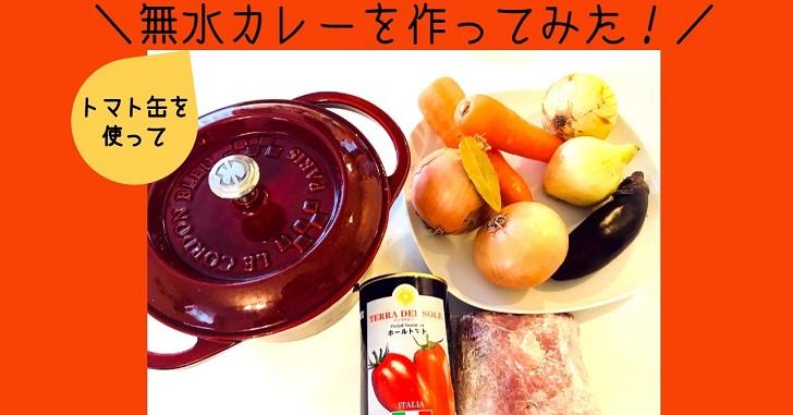 無水カレーをトマト缶使って作ってみた!材料/手順/ポイントまとめ